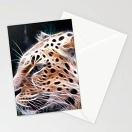 Leopard  lines ,Leopard  painting Stationery Cards