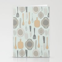 kitchen Stationery Cards featuring kitchen by La Señora