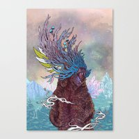 Canvas Prints featuring Journeying Spirit (Bear) by Mat Miller