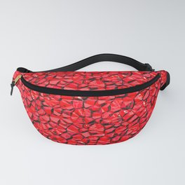 Red crystal gem wall Fanny Pack