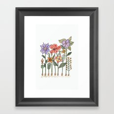 Progress flowers Framed Art Print