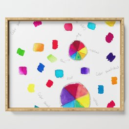 Color Wheel and Paint Swatches Serving Tray