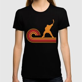 Retro Style Slap Shot Silhouette Hockey T-shirt