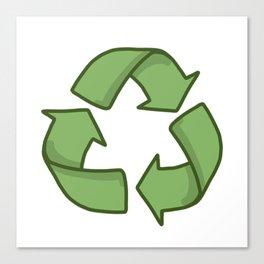 Recycle Symbol Canvas Print