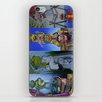 muppet iPhone & iPod Skins featuring Muppet Stretching Room Portraits by Lissyleem
