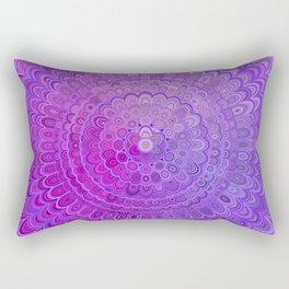 Mandala Flower in Violet Tones Rectangular Pillow