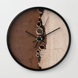 rotated rustic roof Wall Clock