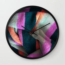 Multicolor Stripe Textile 3 Wall Clock