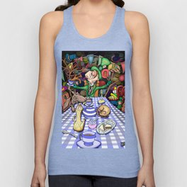 Mad Hatter's Tea Party Unisex Tank Top