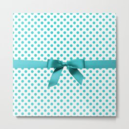 Blue Tiffany Polkadot Metal Print
