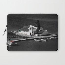 Vlacherna Monastery in Corfu [B&W, color details] Laptop Sleeve