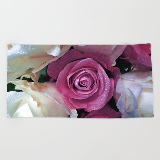 Roses Beach Towel