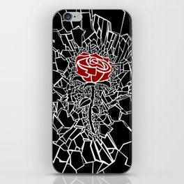 The Shattered Rose iPhone Skin