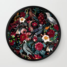 FLORAL AND BIRDS XX Wall Clock