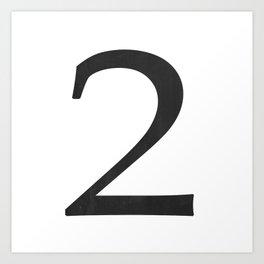 Number 2 (Black) Art Print