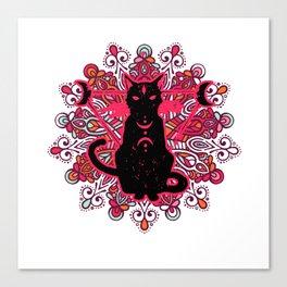 witchcraft cats furniture Design by diegoramonart Canvas Print