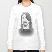 dave grohl Long Sleeve T-shirts featuring Dave Grohl , Portrait Art by N_T_STEELART