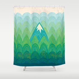 Towering Mountain Shower Curtain