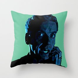 The face of Who (Two) Throw Pillow