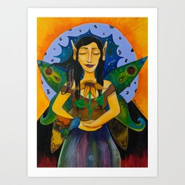 Faerie messenger of light Art Print
