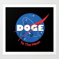 nasa Art Prints featuring Nasa Doge by Tabner's