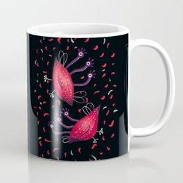 Cute Red Three Eyed Aliens Coffee Mug