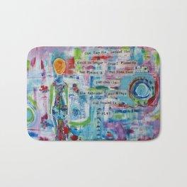 """Rearranged"" Original Mixed Media Acrylic Painting by Toni Becker, Artfully Healing Bath Mat"