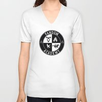 fandom V-neck T-shirts featuring Fandom Academy by Thg Fashion