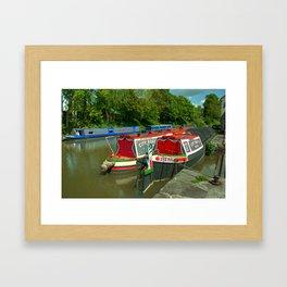 Narrowboats at Devizes Framed Art Print