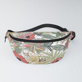 Jungle Flower Garden Fanny Pack