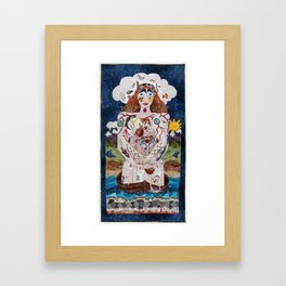 All Stacked Up in My Head Framed Art Print