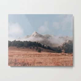 Magical misty morning at Chautauqua Park Metal Print