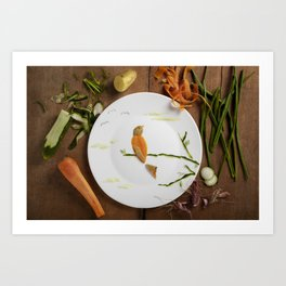 A Tribute to Budgie Art Print