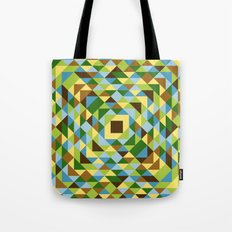 Leaves, trees and blu skies Tote Bag