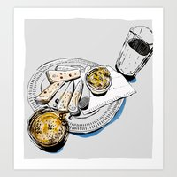 Ale and pie Art Print