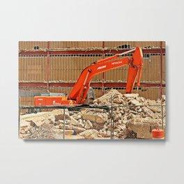 Demolition Metal Print