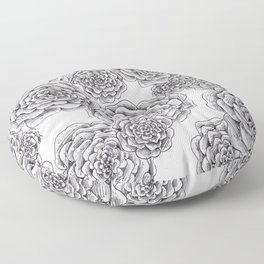 """flowers or """"pinecones from top"""" hand drawn Floor Pillow"""