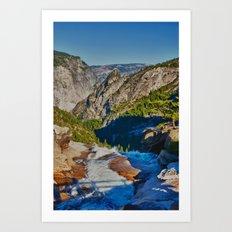 Yosemite ontop Nevada Falls, Grizzly Peak Art Print