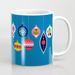 Retro Christmas Baubles on a dark background Coffee Mug