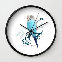 Blue Parakeet Wall Clock