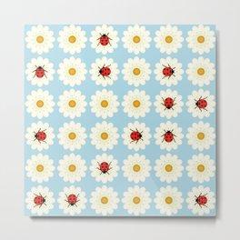 Ladybugs pattern Metal Print