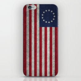 USA Betsy Ross flag - Vintage Retro Style iPhone Skin