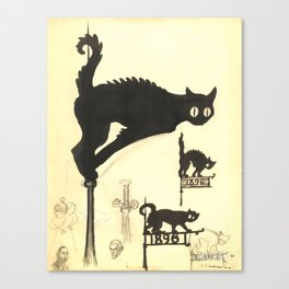 "Théophile Steinlen ""Black cats"" Canvas Print"