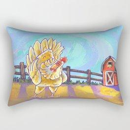 Animal Parade Chicken Rectangular Pillow