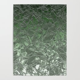 Grunge Relief Floral Abstract G167 Poster