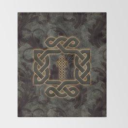 Decorative celtic knot, vintage design Throw Blanket
