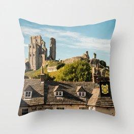 Corfe Castle (2) Throw Pillow