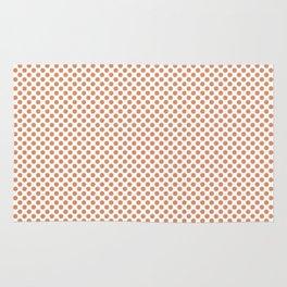Copper Tan Polka Dots Rug