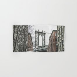 Dumbo, Manhattan bridge, New York city photo, Brooklyn, hasselblad photography, DUMBO Hand & Bath Towel