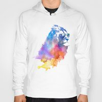 cat coquillette Hoodies featuring Sunny Leo   by Robert Farkas